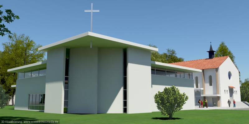 Visualisierung des Wettbewerbs der Evangelisch-Freikirchlichen Gemeinde Ulm
