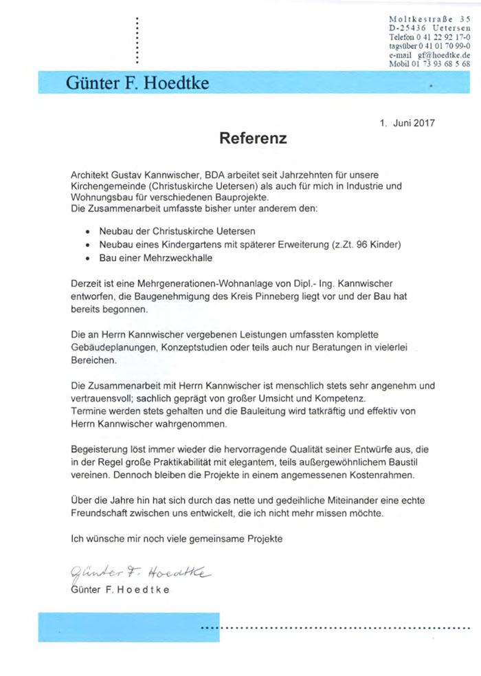 Referenzschreiben